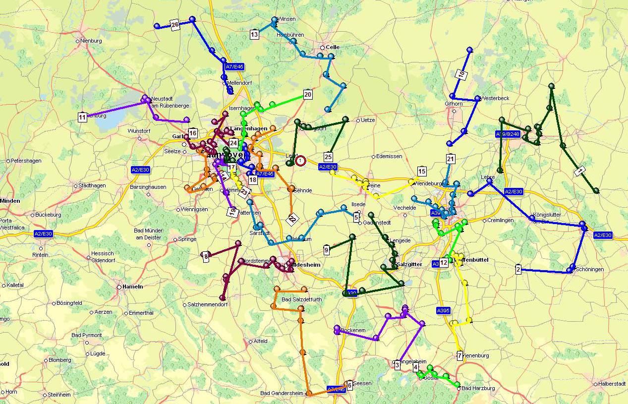 Tourenplanung Kunden Hannover